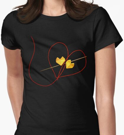 Red String of Fate Womens Fitted T-Shirt