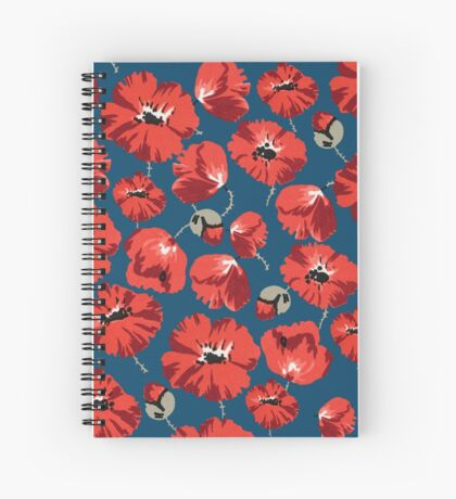 Floral montage of red poppies  Spiral Notebook