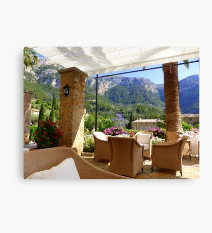 A Shaded Corner of Paradise Canvas Print