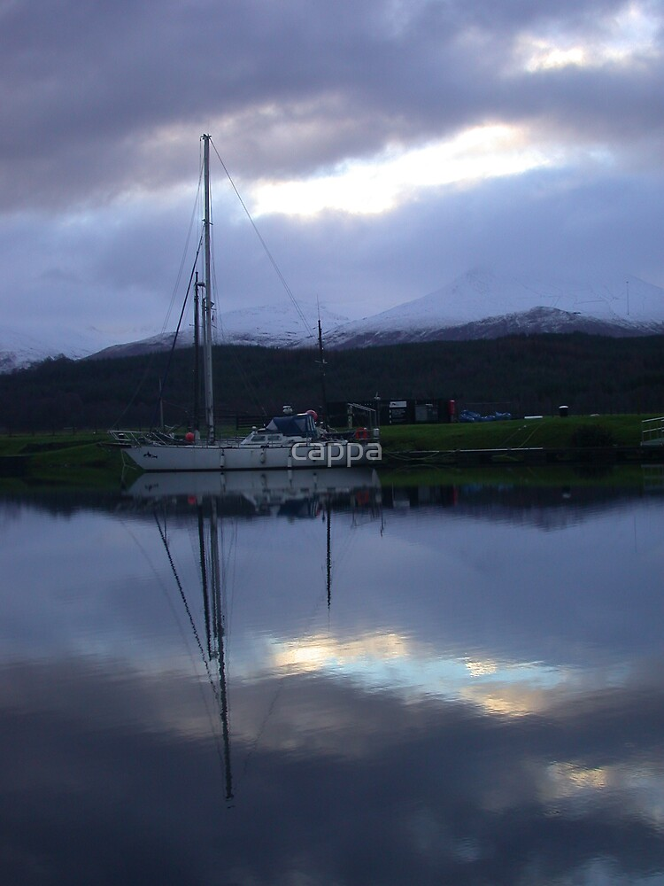 yacht reflection by cappa