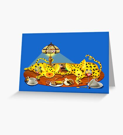 Excessive eating Greeting Card